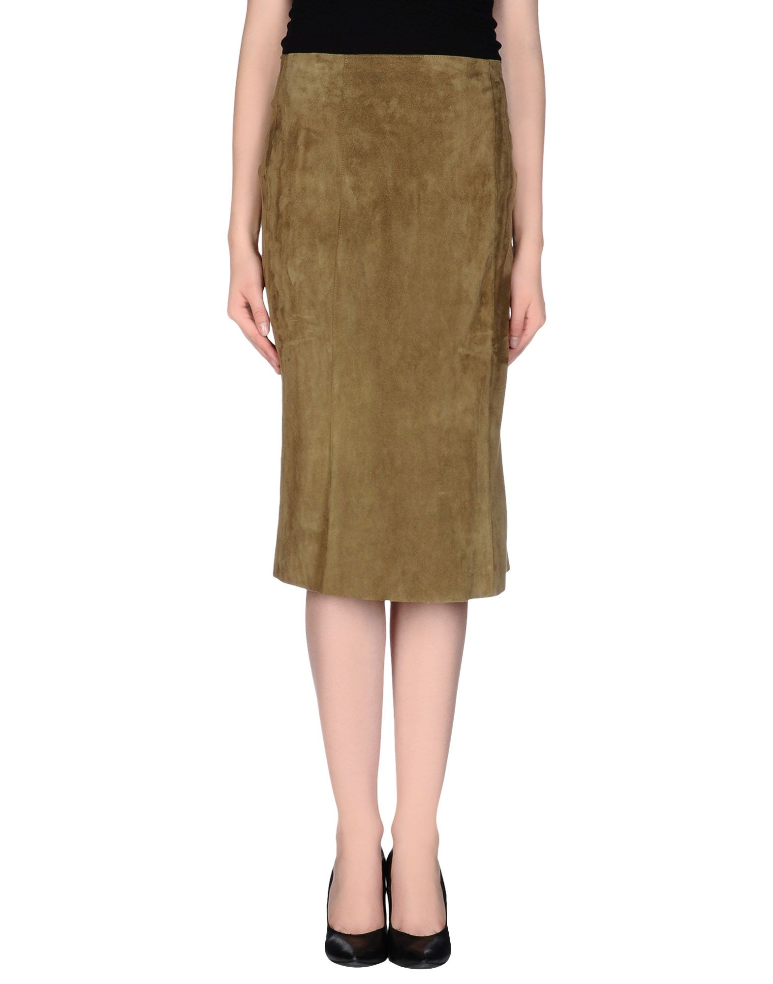 jitrois leather skirt in green lyst