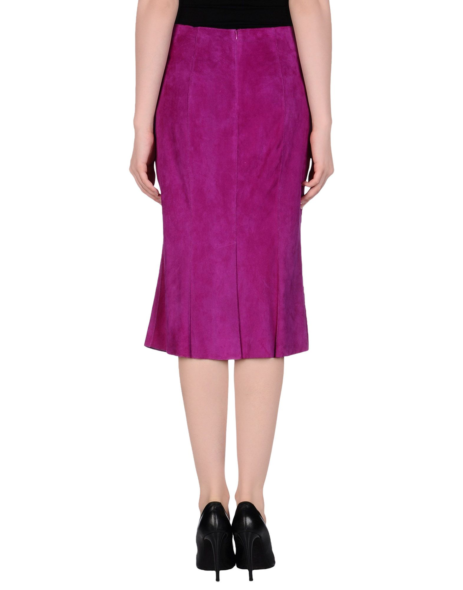 jitrois leather skirt in purple lyst