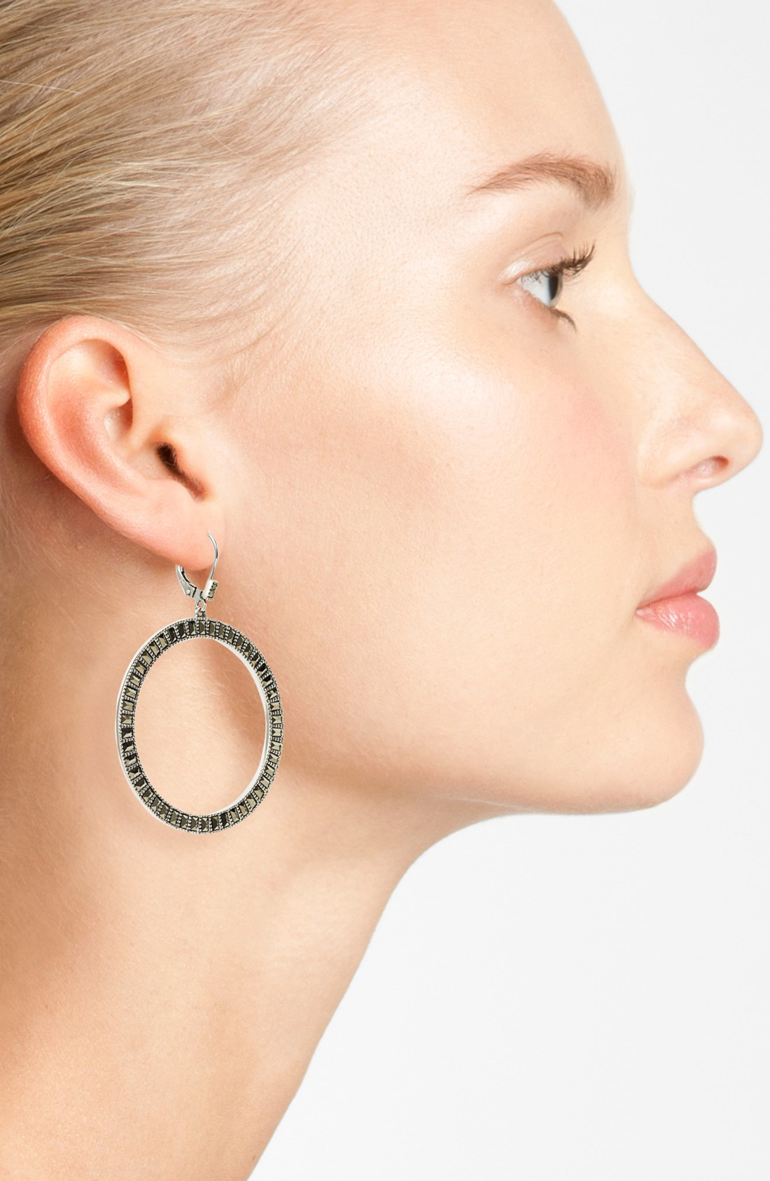 Judith Jack - judith-jack-silver-clear-flamenco-large-marcasite-circle-drop-earrings-product-2-14040279-929386194