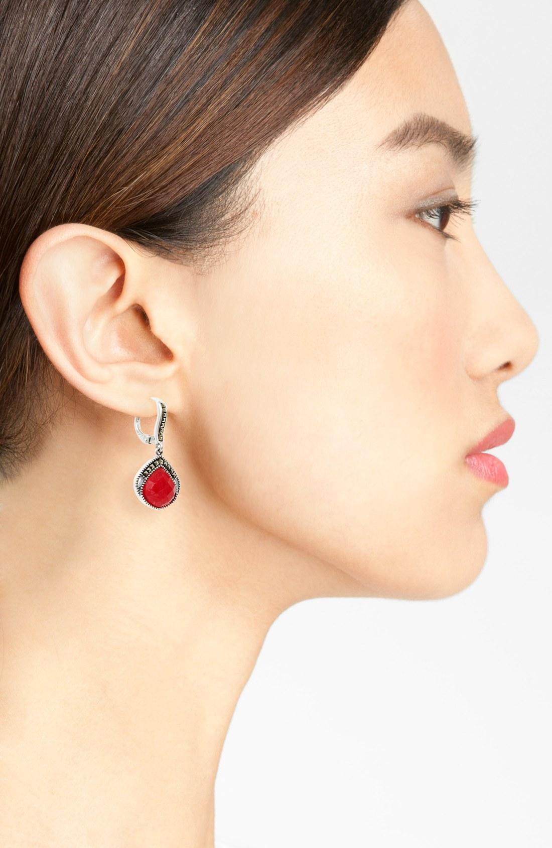 Judith Jack - judith-jack-silver-ruby-flamenco-drop-earrings-product-2-14039850-821048982