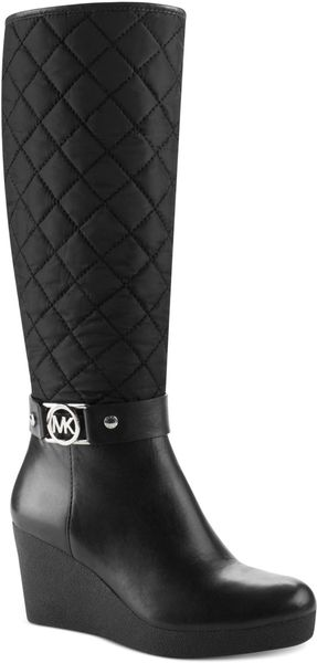 Michael Kors Aaran Cold Weather Wedge Boots - Lyst