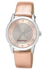 Nine West Ladies Rose Gold Tone Watch with Crystal Accents - Lyst