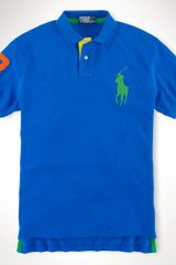 Polo Ralph Lauren Custom Contrast Big Pony Polo - Lyst