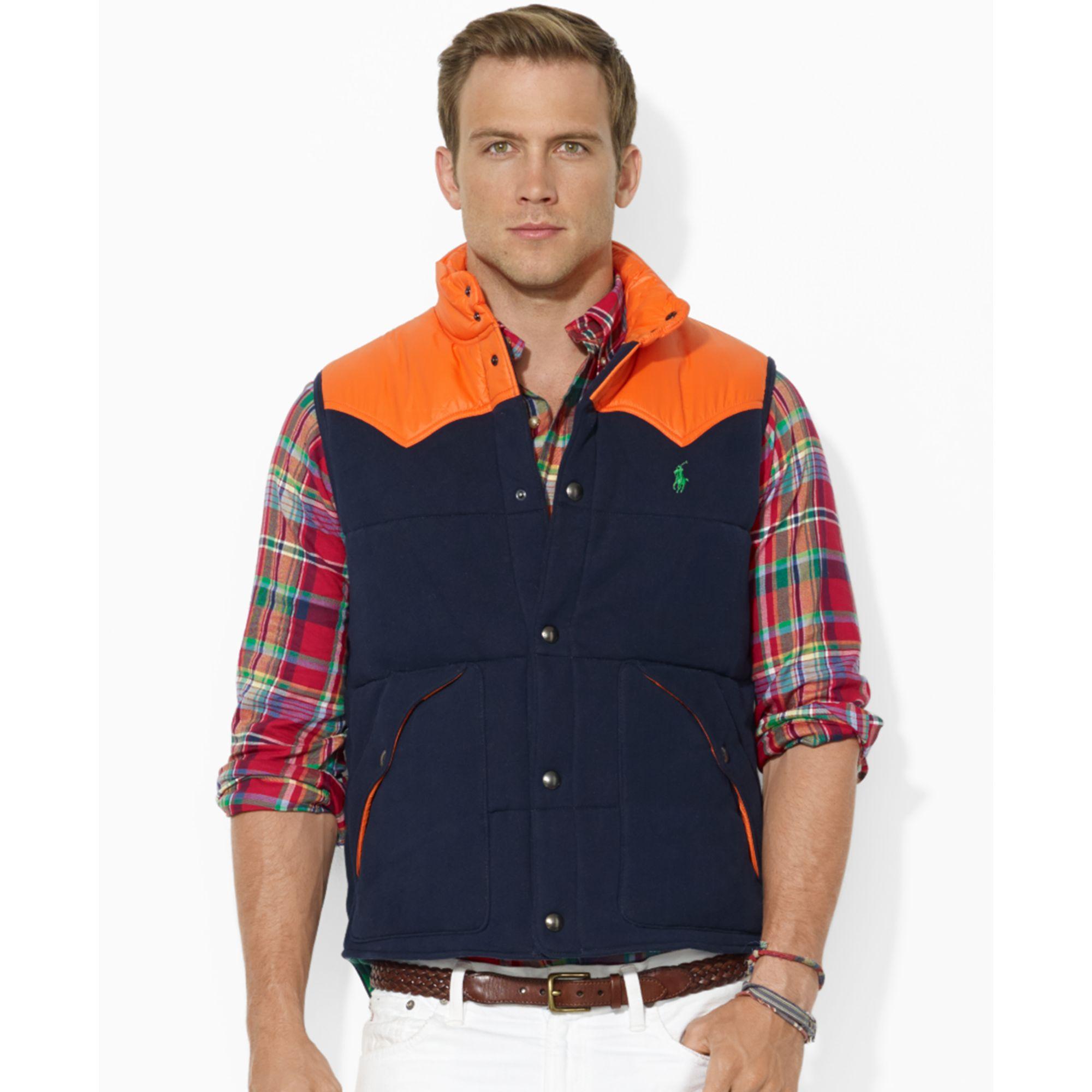 375194de9dde polo ralph lauren vest colorblocked fleece vest - WörterSee Public ...