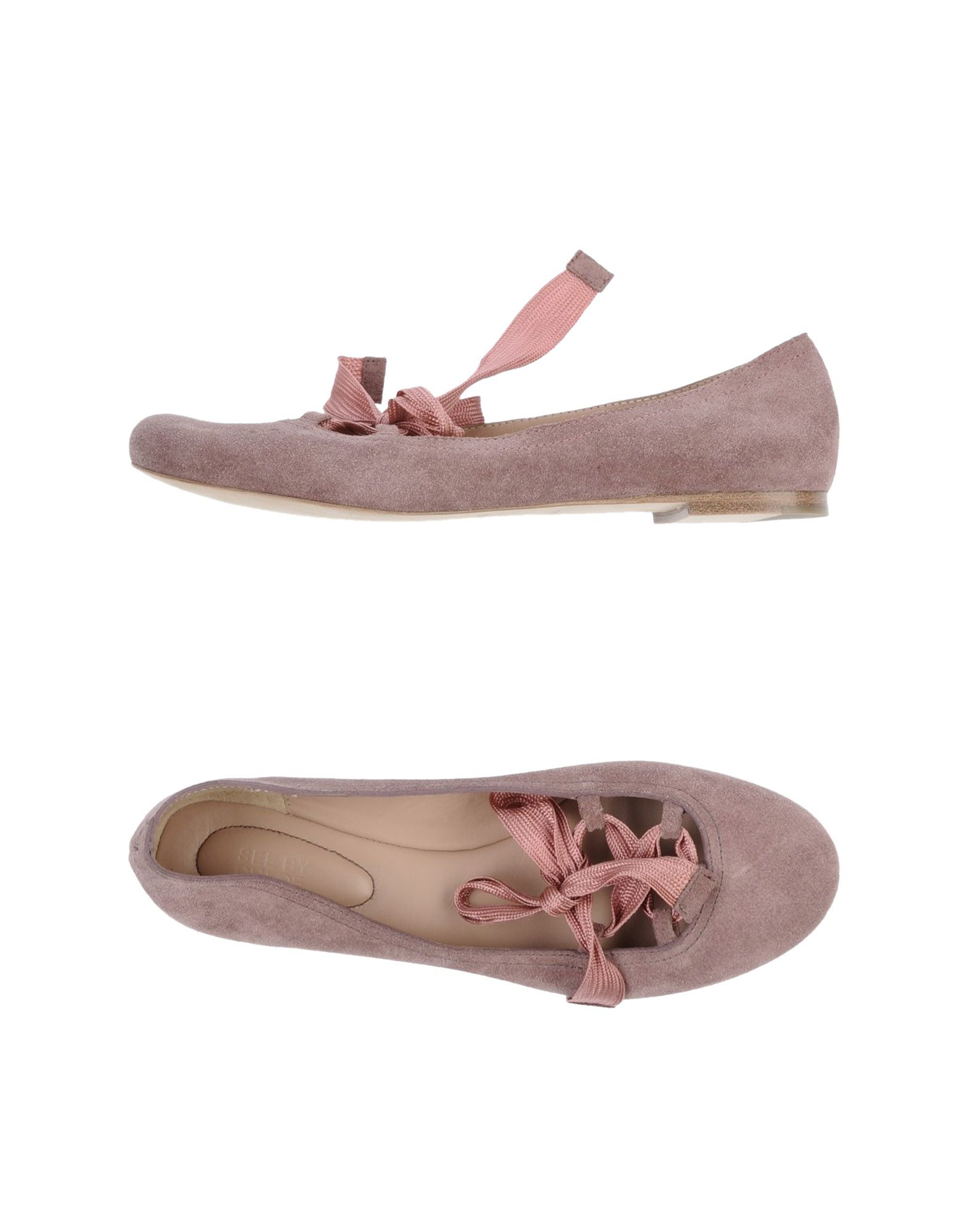 see by chlo ballet flats in pink pastel pink lyst. Black Bedroom Furniture Sets. Home Design Ideas