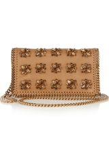 Stella McCartney Crystalembellished Faux Leather Shoulder Bag - Lyst