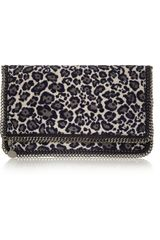 Stella McCartney The Falabella Leopardprint Jacquard Clutch - Lyst