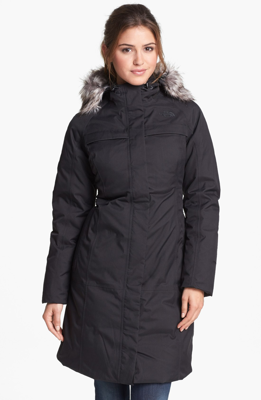 lyst the north face arctic down parka in black. Black Bedroom Furniture Sets. Home Design Ideas