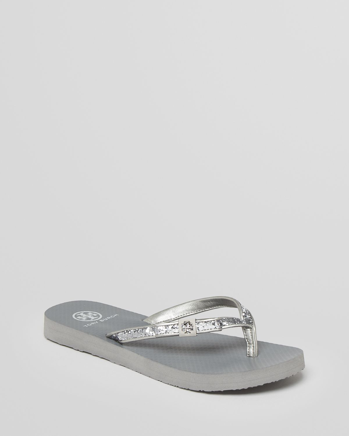 058c73b7a Lyst - Tory Burch Flip Flops in Metallic