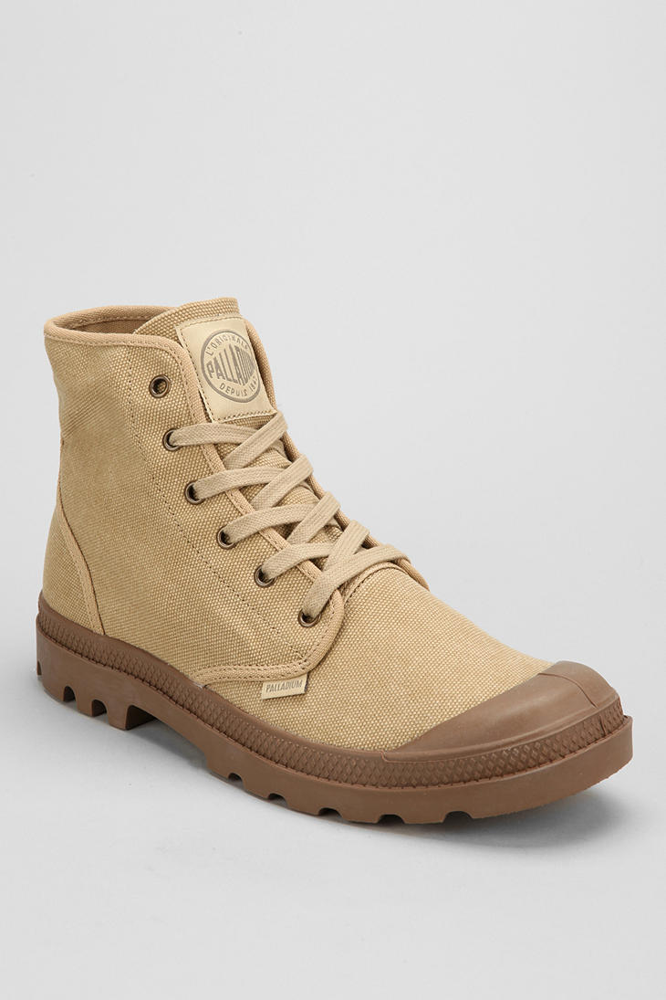 Lyst Palladium Pampa Hi Canvas Boot In Natural For Men