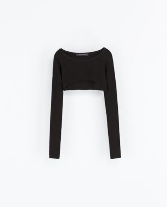 Zara Round Neck Top - Lyst