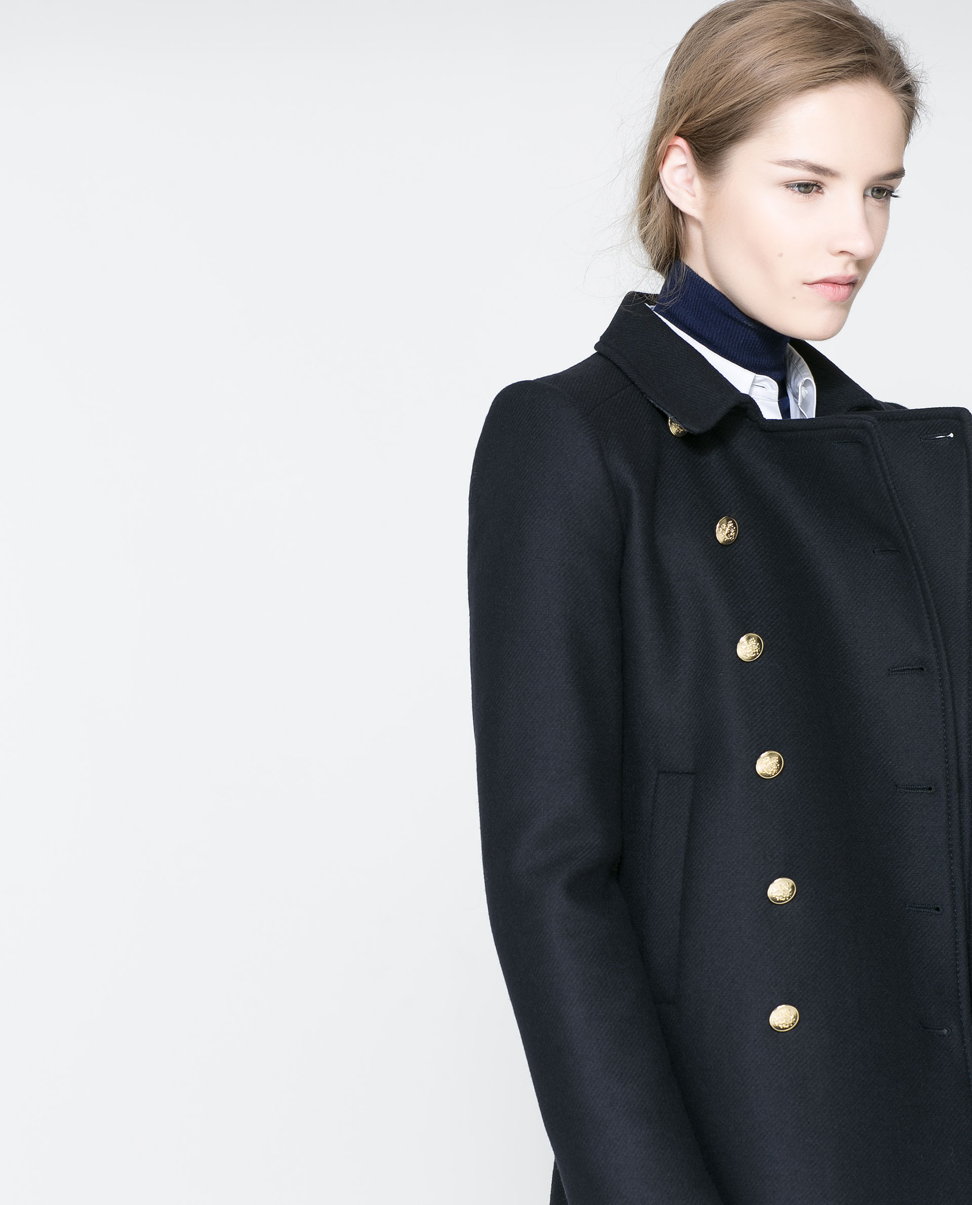 Zara navy women's coat