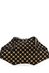 Alexander McQueen Demanta Velvet Embroidered Clutch Bag - Lyst