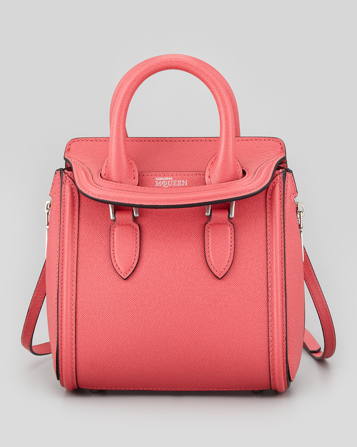 Alexander Mcqueen Heroine Mini Satchel Bag in Pink | Lyst