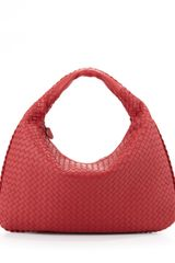 Bottega Veneta Intrecciato Large Hobo Bag Red - Lyst
