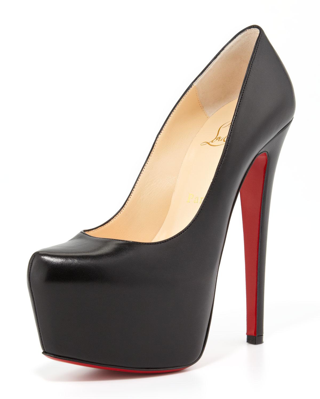 Christian Louboutin Black Platform Shoes