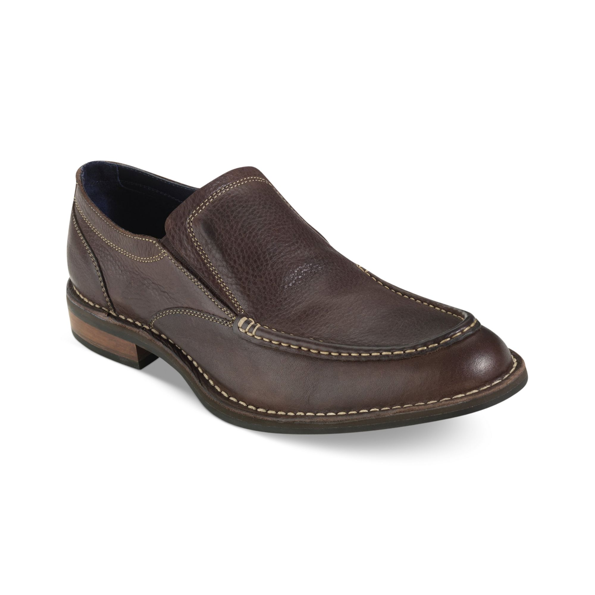 cole haan centre st slipon shoes in brown for men dark. Black Bedroom Furniture Sets. Home Design Ideas
