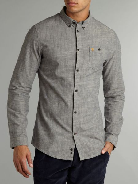 Gray Shirt Shirt in Gray For Men