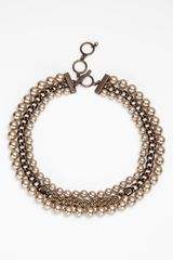 Givenchy Glass Pearl Chain Link Collar Necklace - Lyst