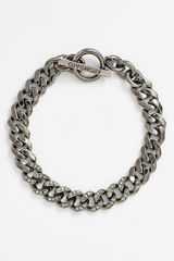 Givenchy Pavé Chain Link Toggle Bracelet - Lyst