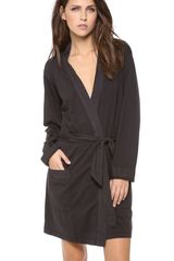 James Perse Cotton Robe - Lyst