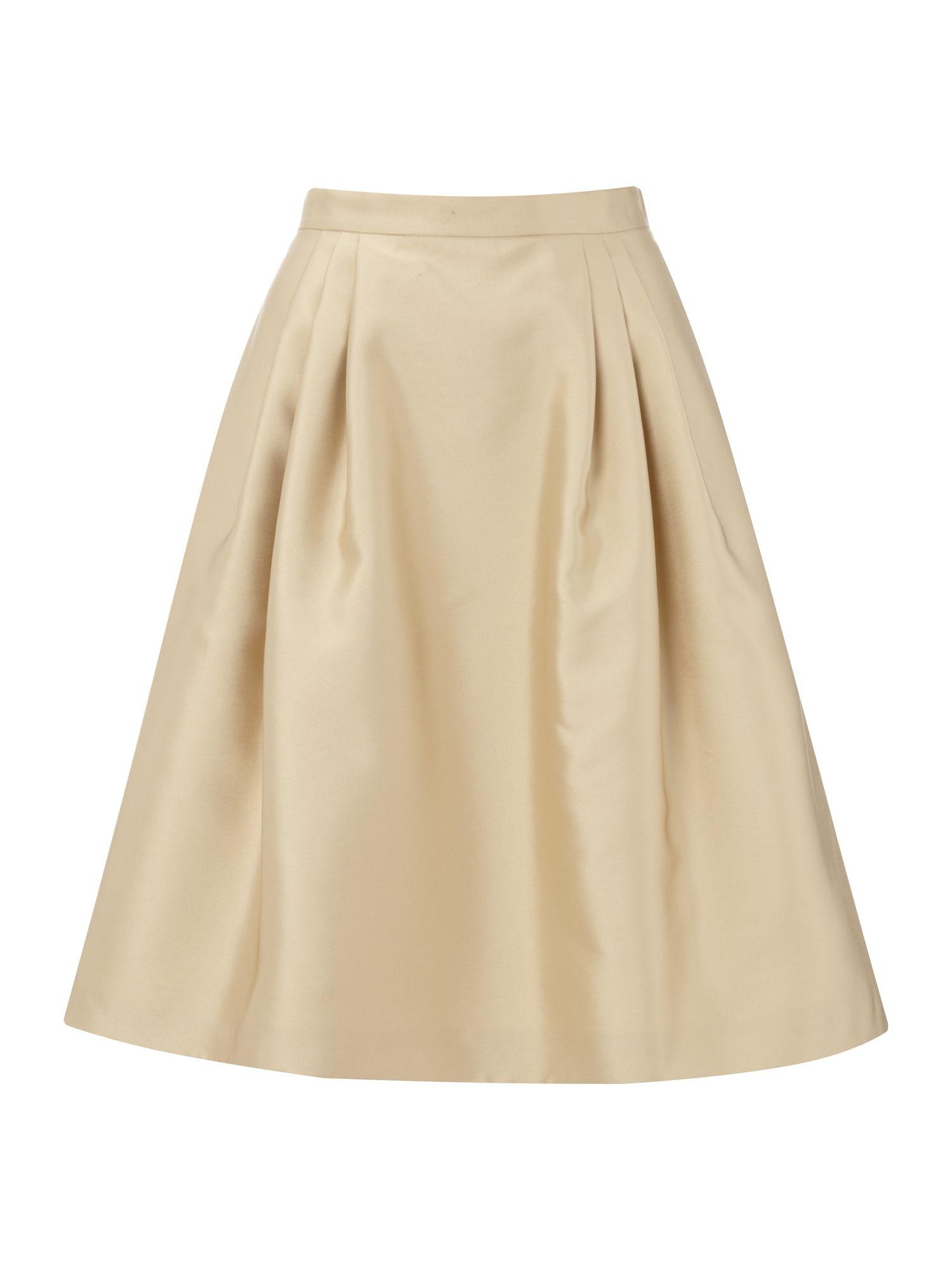 A Line Beige Skirt