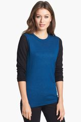 Nordstrom Collection Colorblock Cashmere Sweater - Lyst