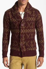 Obey Anchors Shawl Cardigan - Lyst