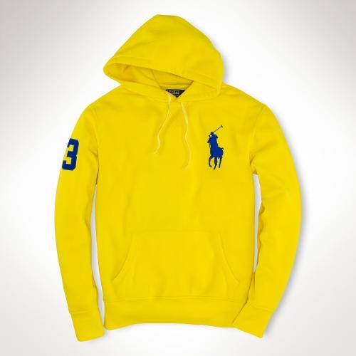 Ralph Lauren Soft Black Yellow Men Hoodied
