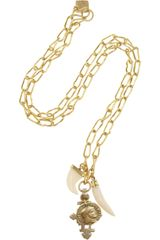 Ashley Pittman Pagaro Goldtone and Horn Necklace - Lyst