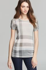 Burberry Brit Check Print Tee - Lyst
