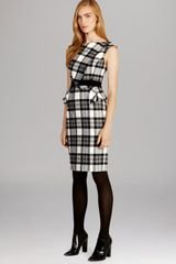 Karen Millen Statement Fabric Collection Dress - Lyst