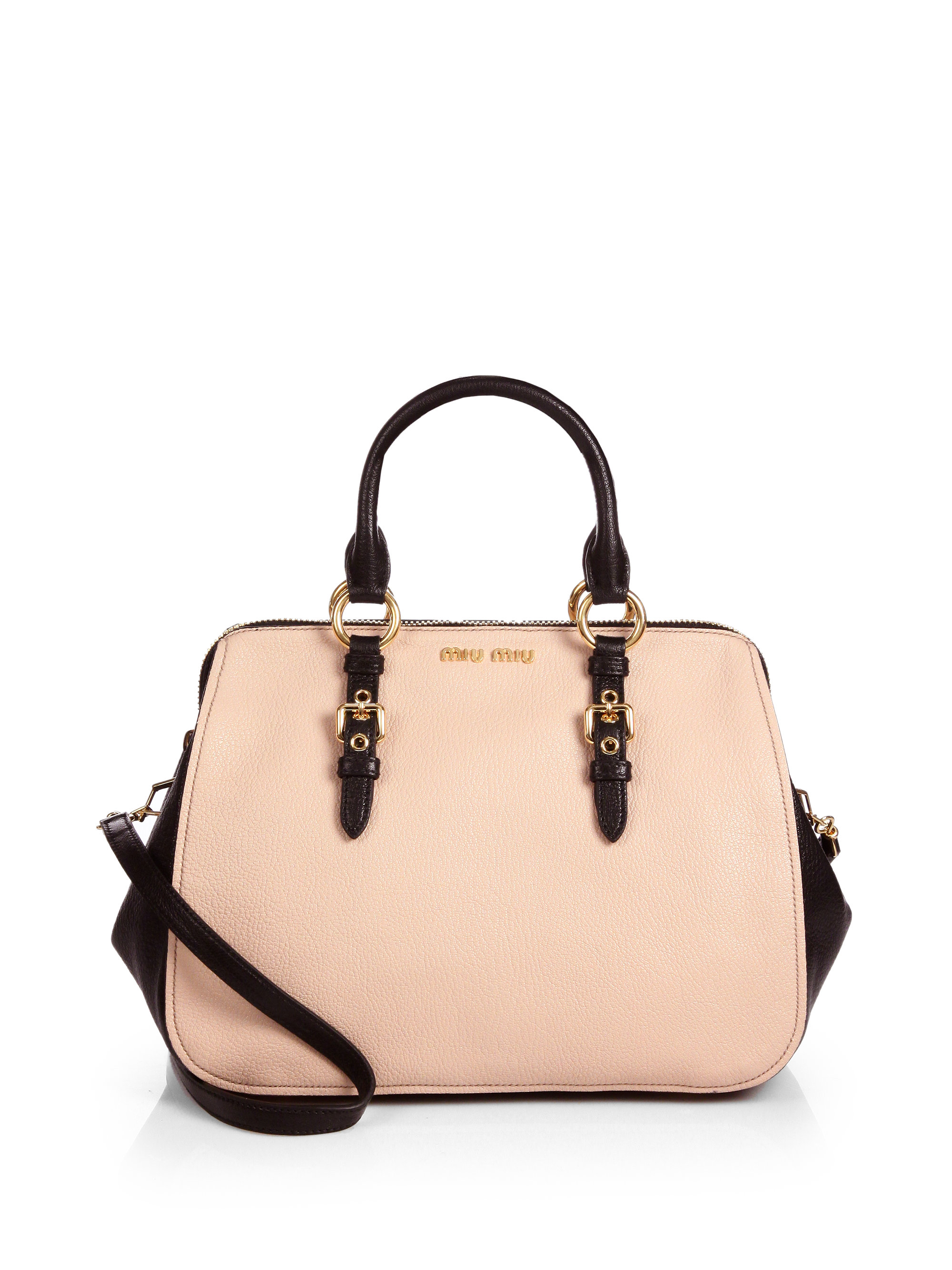 942bb1ae7ff Gallery. Previously sold at  Saks Fifth Avenue · Women s Bowling Bags  Women s Miu Miu Shoulder Bag ...
