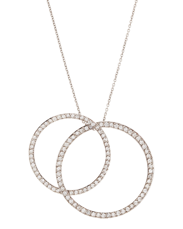 Roberto Coin Diamond Circle Swirl Station Necklace dsDDMYaA0w