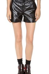 Theyskens' Theory Pastil Leather Shorts - Lyst