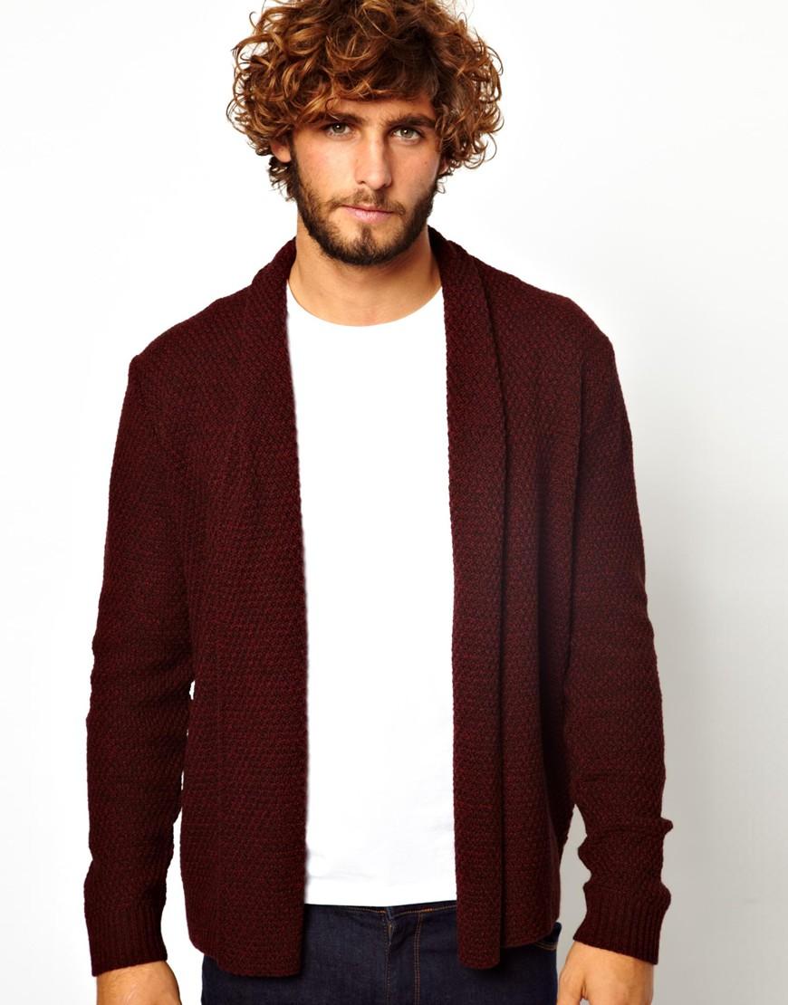 4c834319b55 Lyst - Won Hundred Asos Cardigan in Textured Yarn in Purple for Men