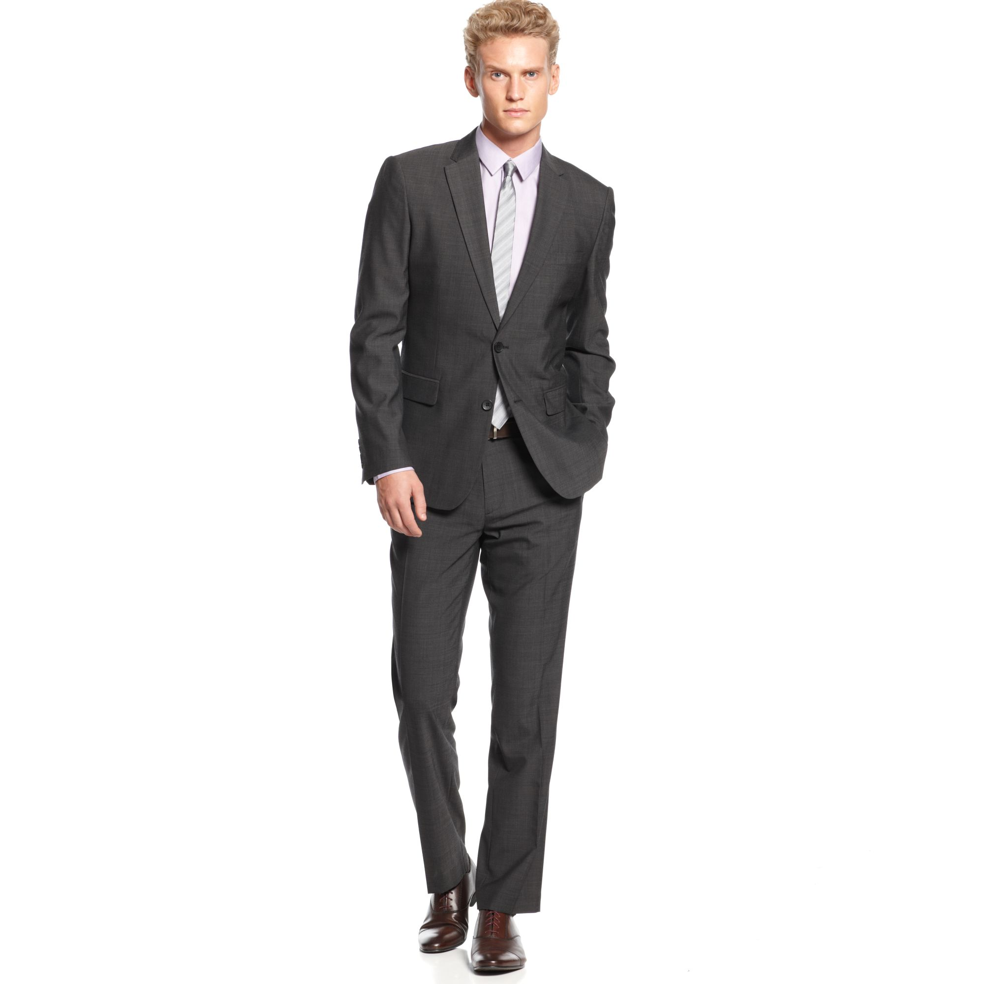Calvin klein Premium Slim Fit Suit Jacket in Gray for Men | Lyst