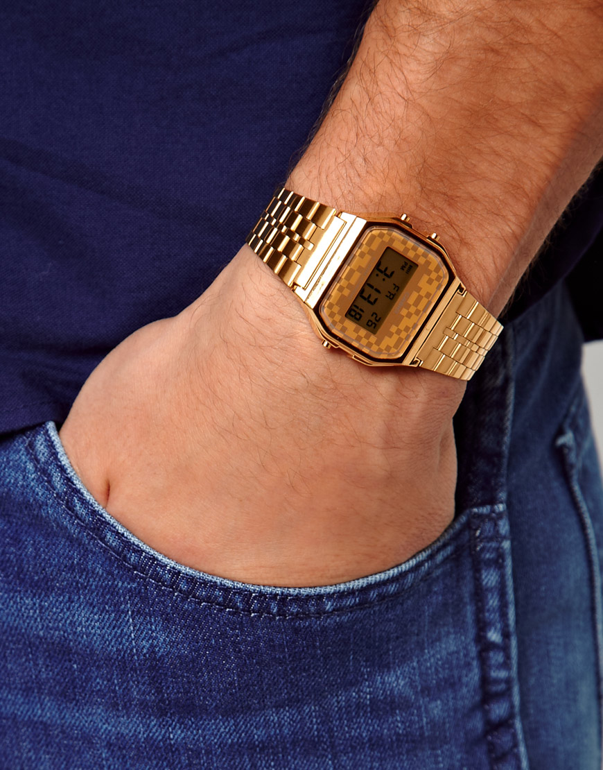 Lyst Asos Casio Digital Bracelet Watch A159wgea9aef In