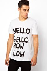 Cheap Monday Tshirt with Hello Print - Lyst