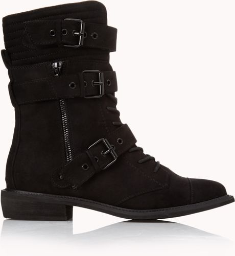 forever 21 underground combat boots in black lyst