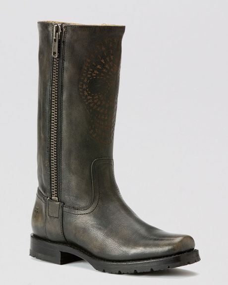 frye boots heath skull in black lyst