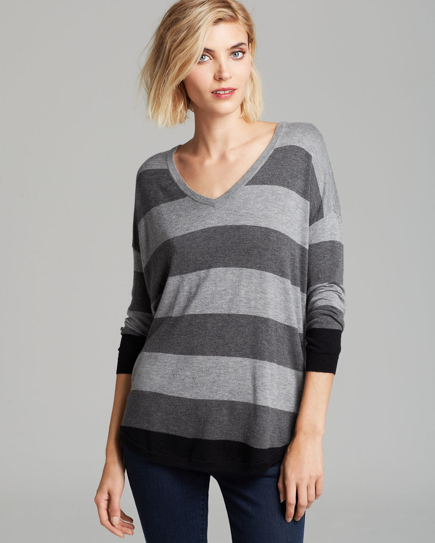 ae8ffb856ae4 Lyst - Joie Sweater Chyanne B Bold Stripe in Gray
