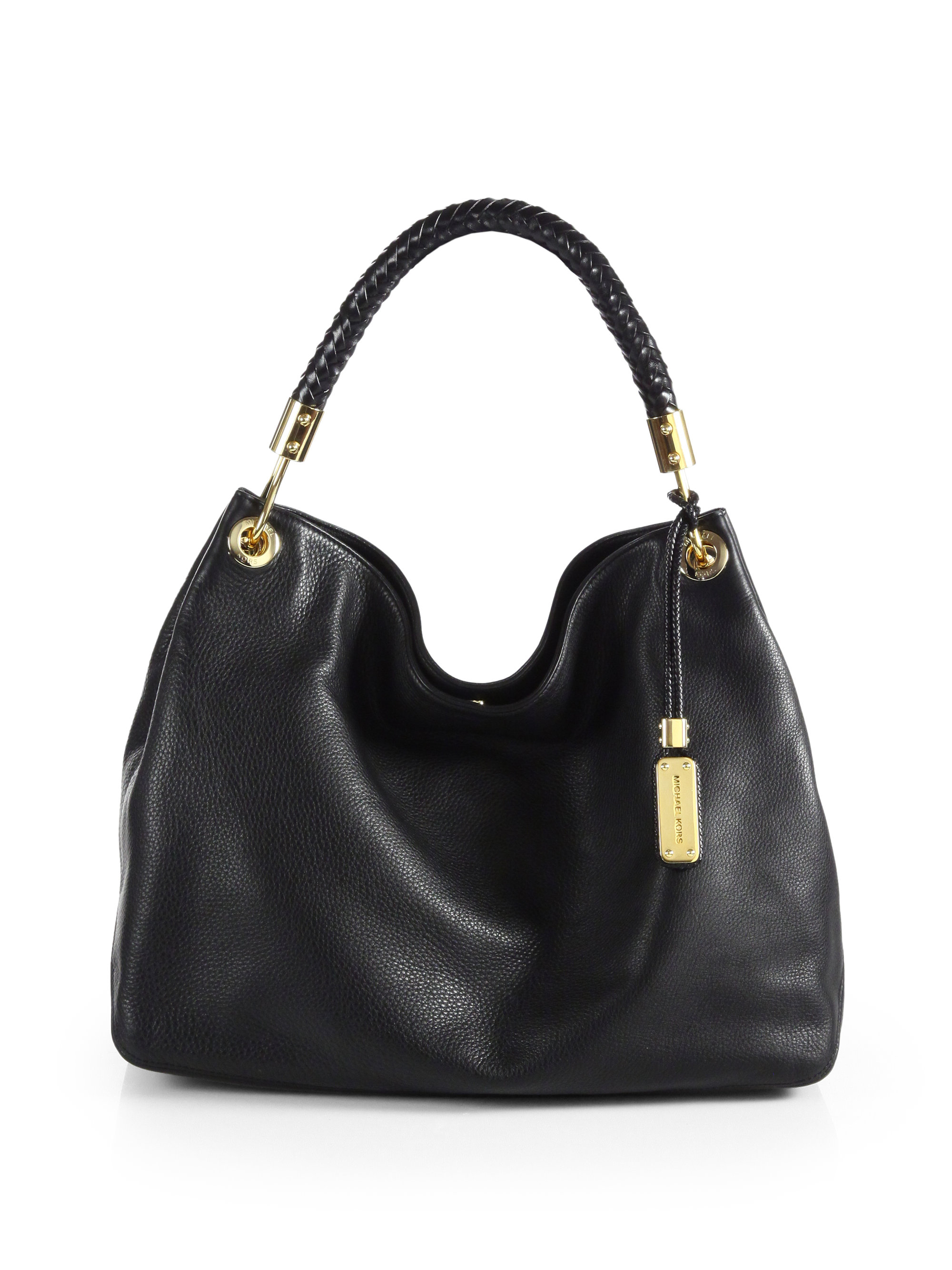 michael kors skorpios large hobo bag in black lyst. Black Bedroom Furniture Sets. Home Design Ideas