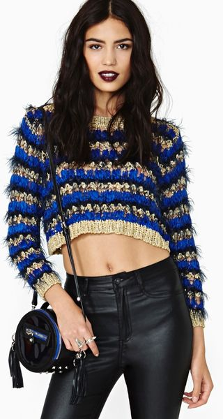 Nasty Gal Regal Living Crop Knit - Lyst
