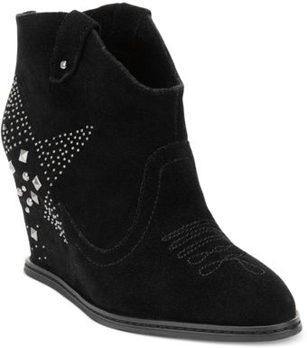 Naughty Monkey Giddy Up Wedge Booties - Lyst