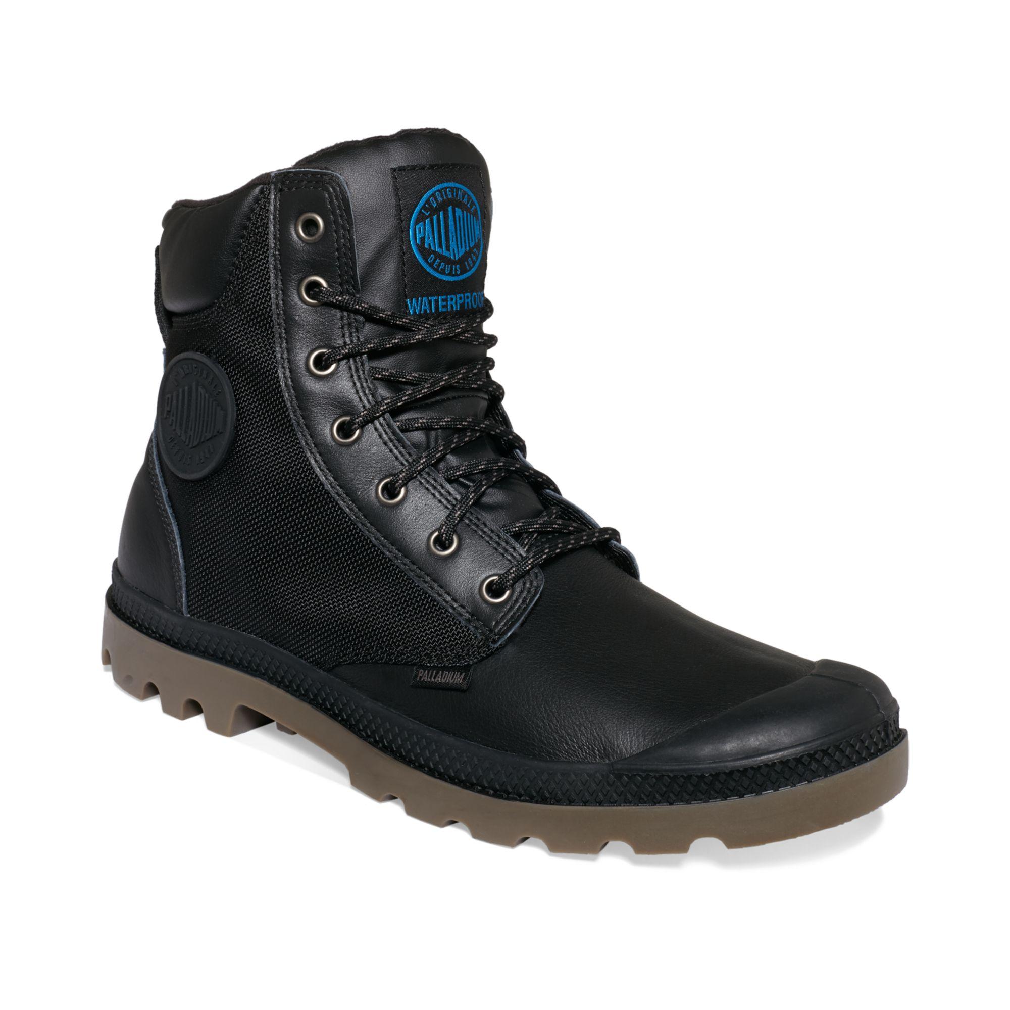 Palladium Pampa Sport Cuff Wp2 Boots In Black For Men