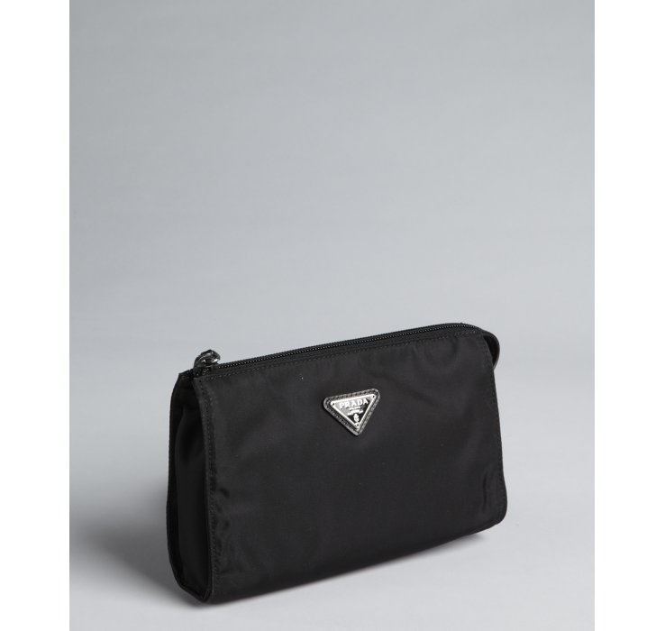 knock off prada bag - Prada Black Nylon Gabardine Zip Pouch in Black | Lyst