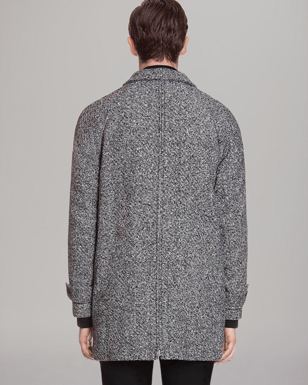 Sandro Wool Coat in Gray for Men | Lyst