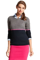 Tommy Hilfiger Stripe Crew Neck Sweater - Lyst