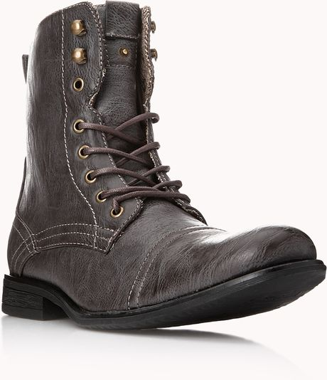 21men distressed combat boots in brown for lyst